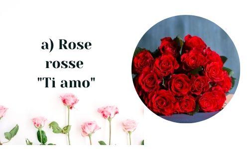 a) Rose rosse