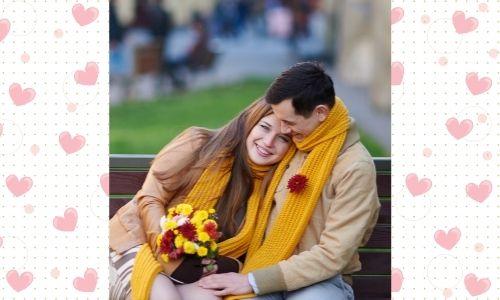 """3) Bouquet di fiori romantico con """"Ti amo"""""""