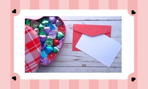 2. Scatola di cioccolatini con messaggio d'amore