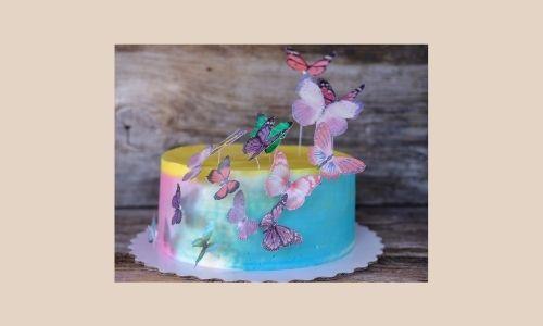 5. Bella torta a farfalla