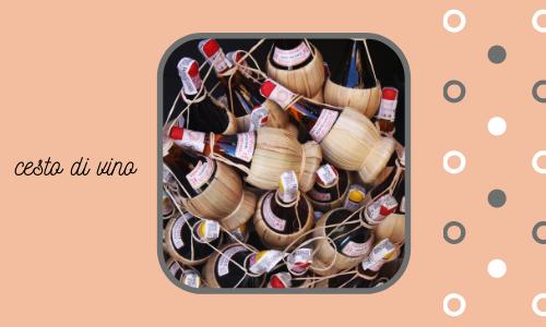 cesta di vino