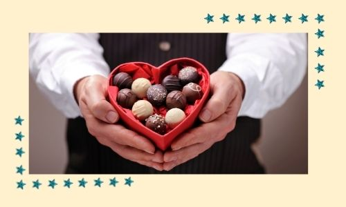 7. Scatola di cioccolatini felice anniversario