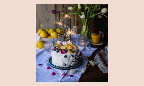 4. Torta al limone e mirtilli