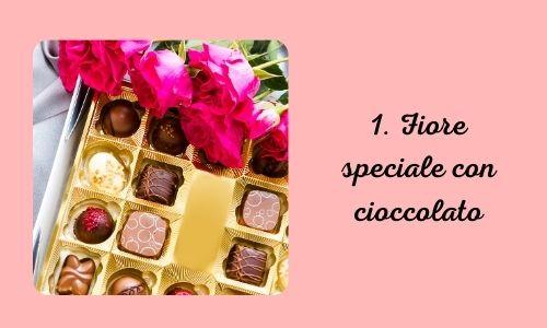 1. Fiore speciale con cioccolato
