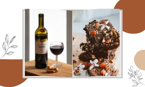 Cioccolato al caramello e vino