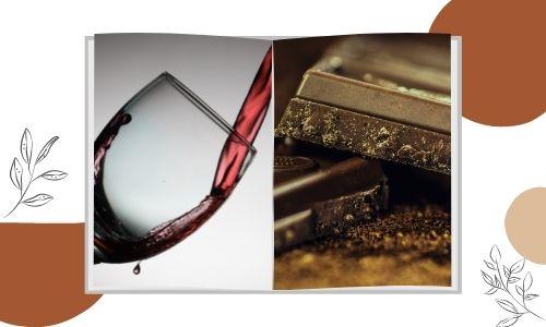 Cioccolato fondente alla menta e vino